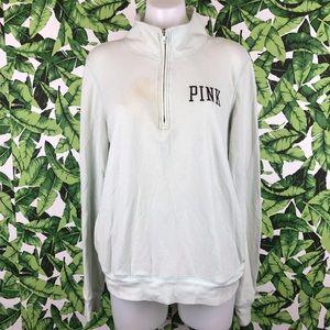 5 for $25 PINK VS Light Green Half ZIP Sweatshirt